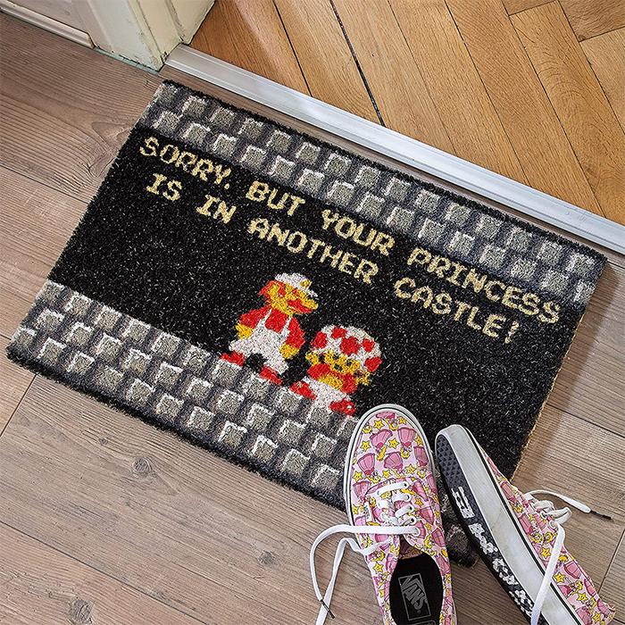 super mario funny floor mat