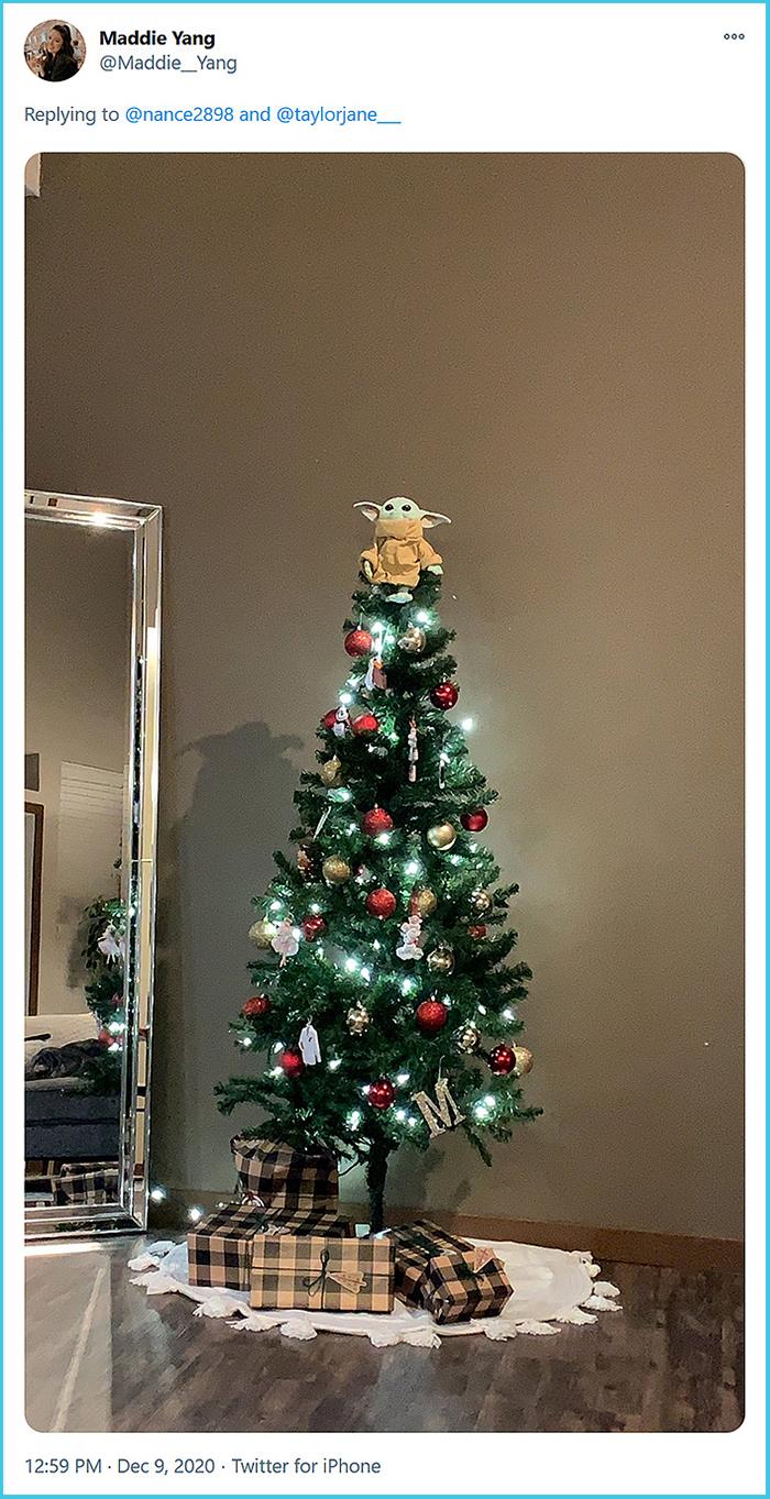the mandalorian child christmas decor