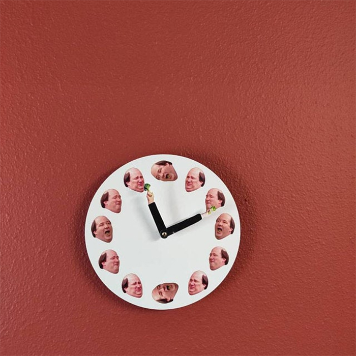 the office inspired funny clock