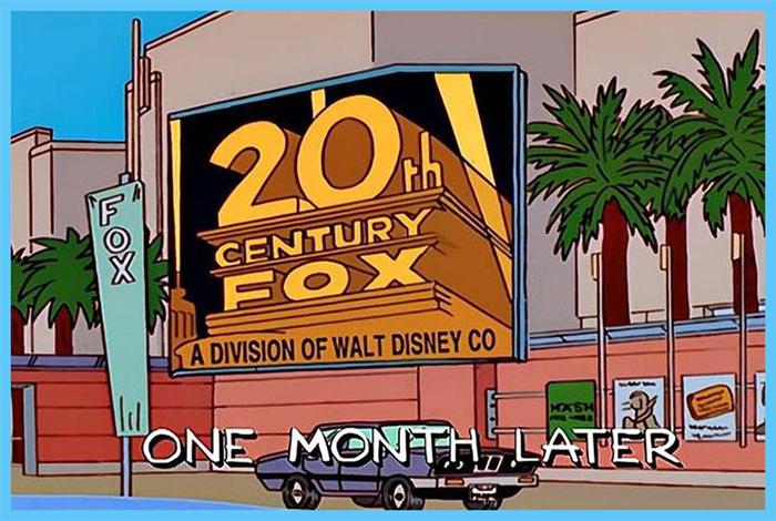 the simpsons prediction disney buying 20th century fox