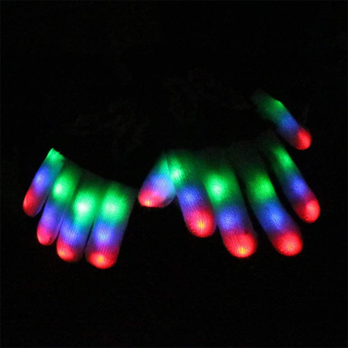 three colors light up gloves