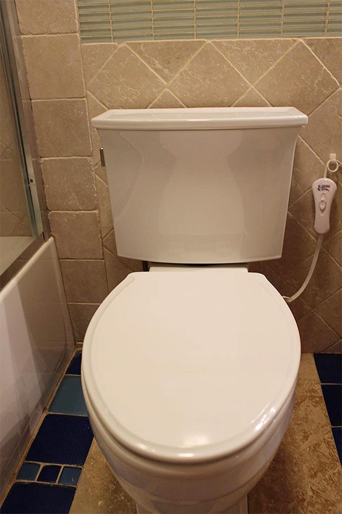 toilet seat warmer lid underside attachment