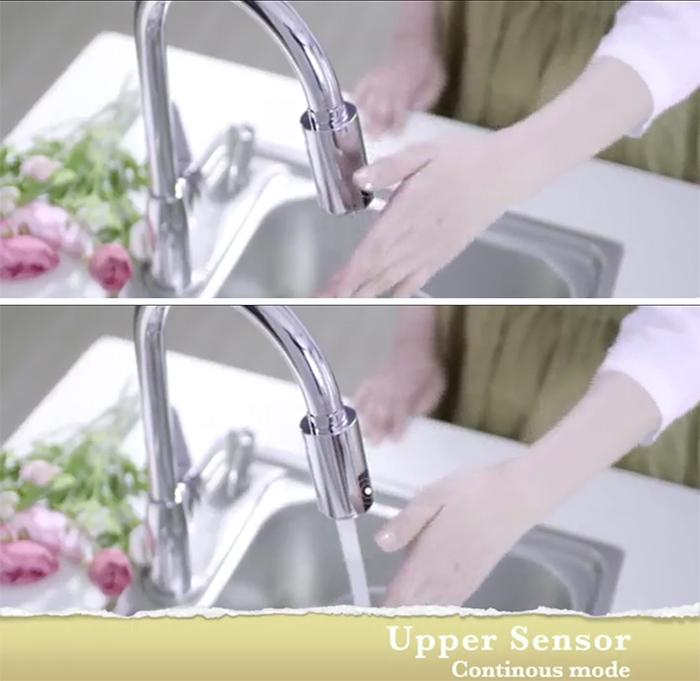 touchless automatic faucet upper sensor