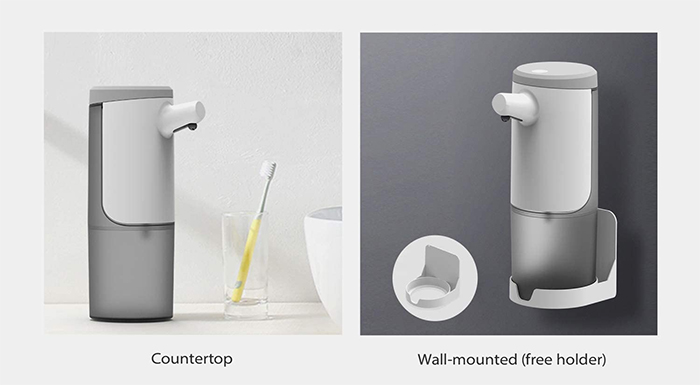touchless foaming soap dispenser wall mounted