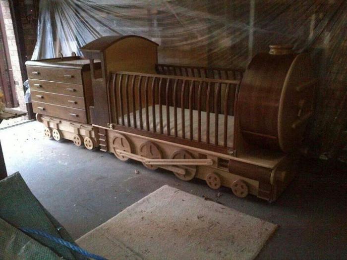 train crib set at the workshop of raymond green