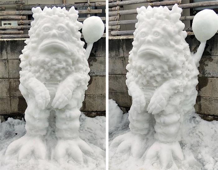ultraman pigmon sculpted ice figure