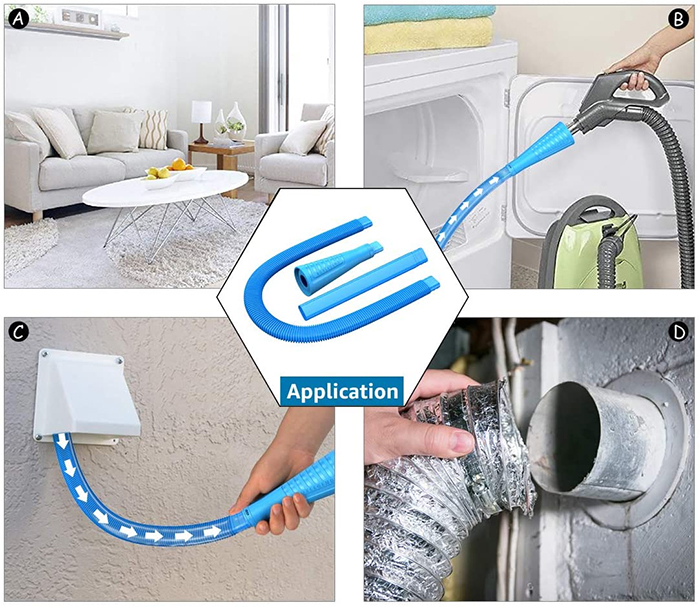 vacuum hose attachment for deep access cleaning