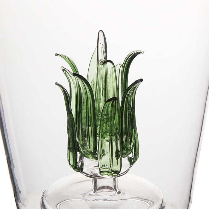 wine decanting bottle agave-plant design