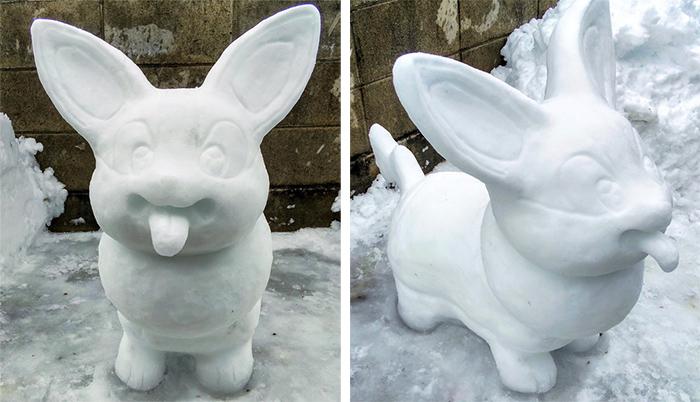 yamper snow sculpture