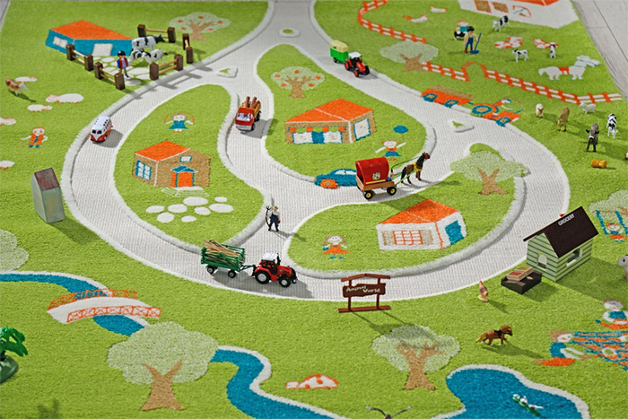 3d farm play rug kids