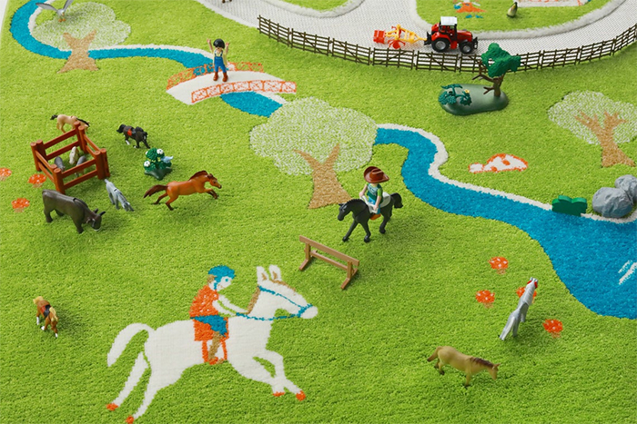 3d farm play rug nature-inspired