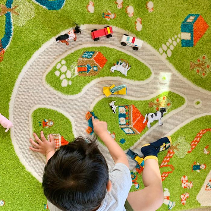 3d farm play rug playmat