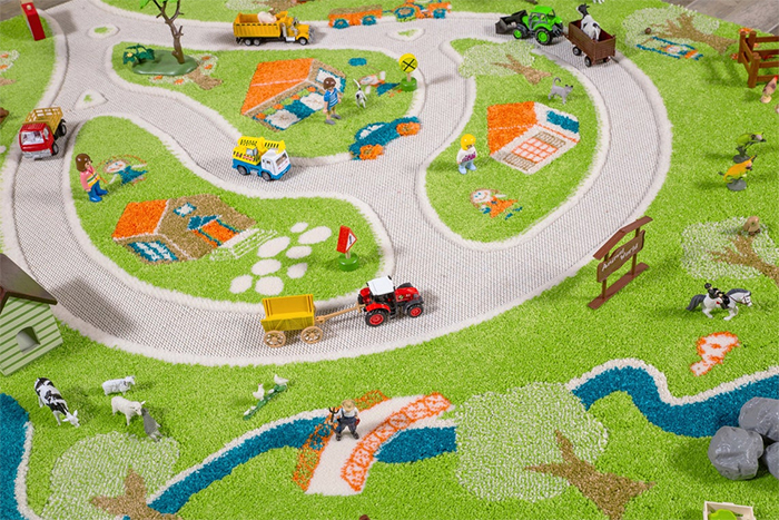 3d farm play rug toys