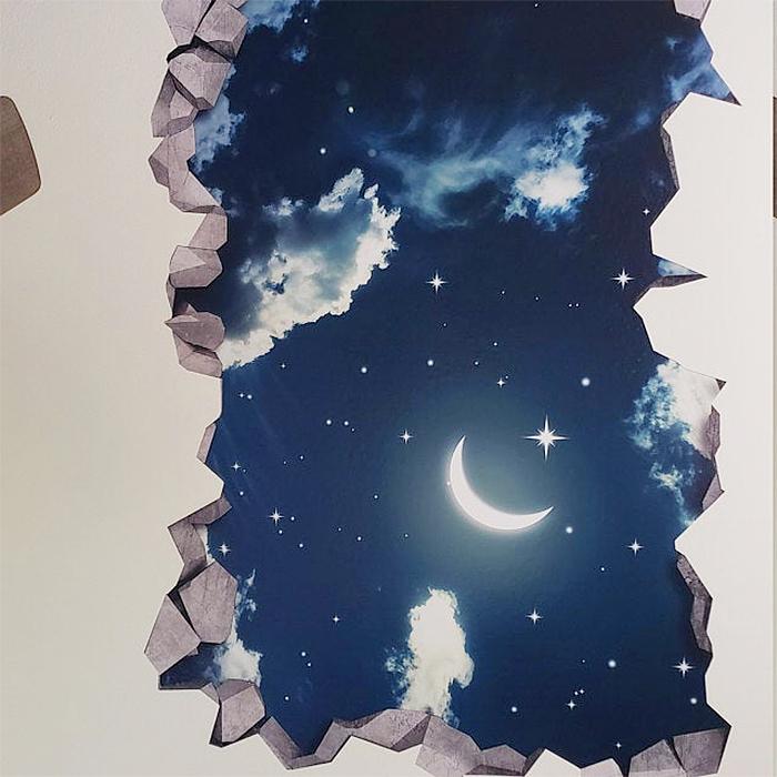 3d starry night wall sticker
