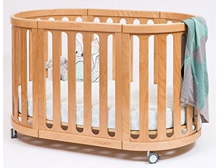 4-in-1 convertible crib in natural as baby's crib