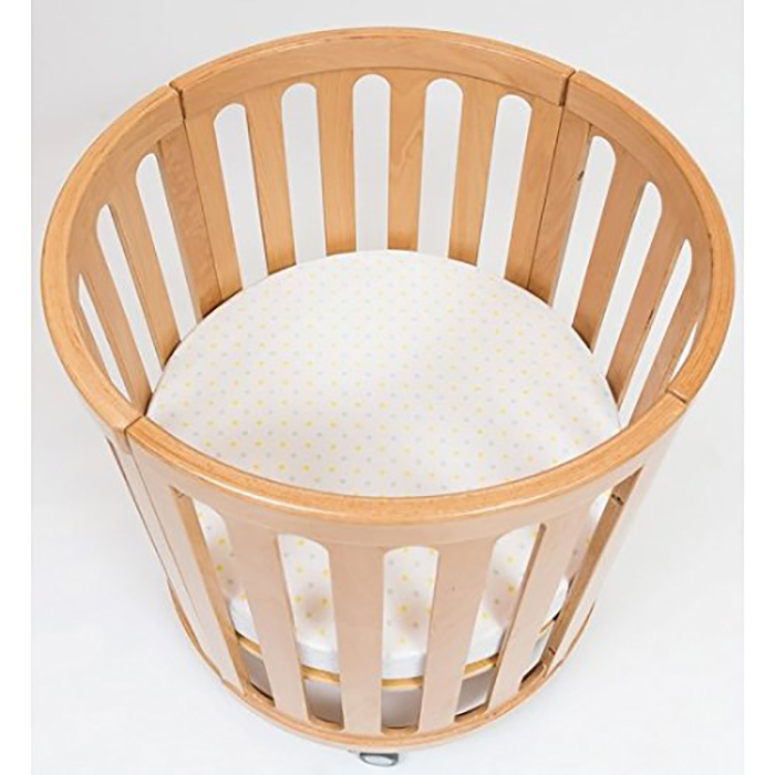 4-in-1 convertible crib in natural as bassinet