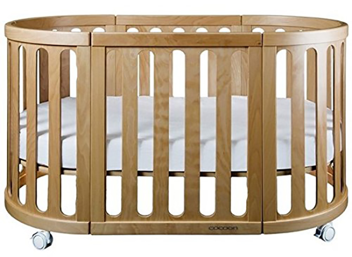 4-in-1 convertible crib in natural