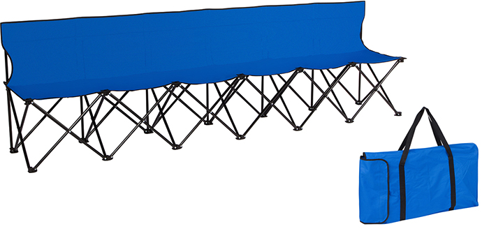 6-person folding bench blue