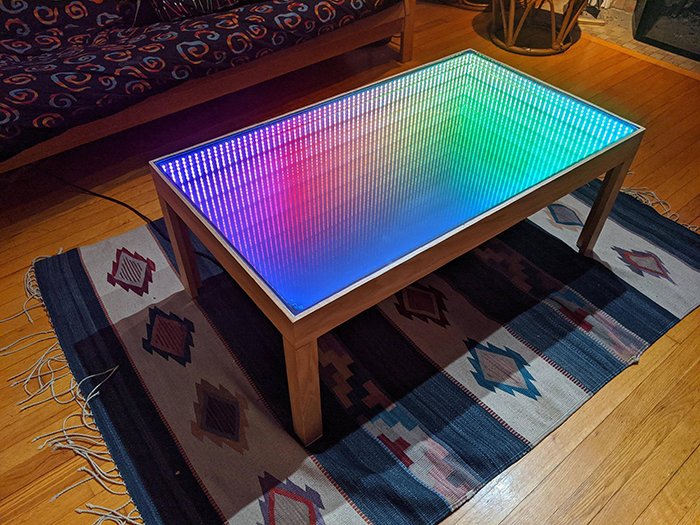 600 LED programmable infinity mirror coffee table