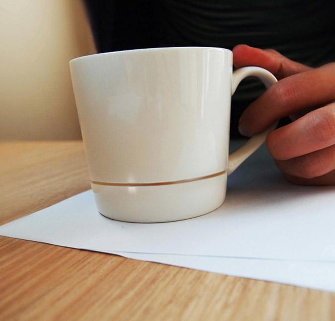 Drip-Catching Coffee Mug