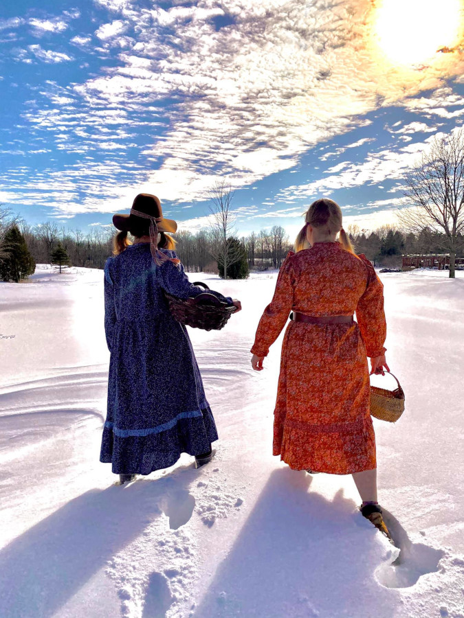 Erin Kellar Stewart ventures into town for supplies along with a companion to roast Target's prairie dress line