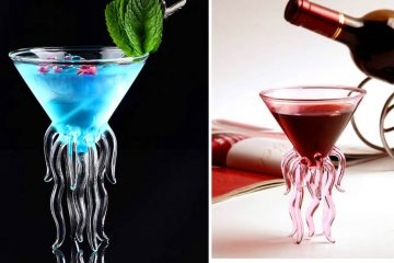 Jellyfish cocktail glass