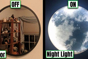 Moon mirror night light