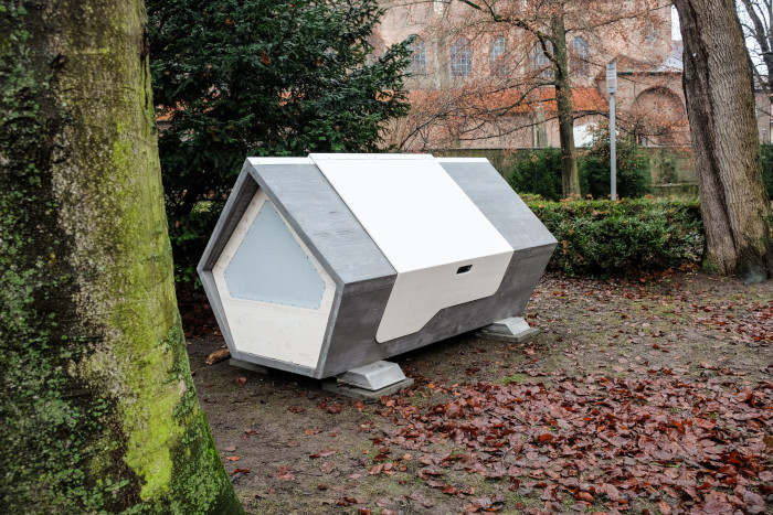 One of the Ulm Nest sleeping pods in the park