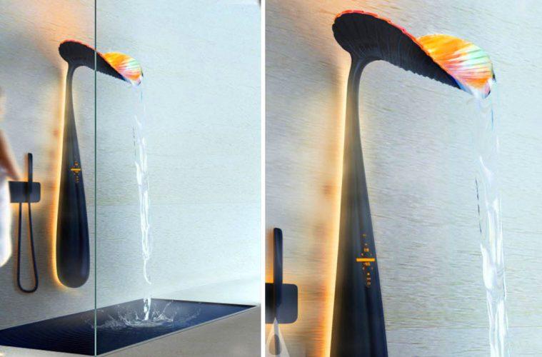 Ora Leaf-Shaped Shower panel