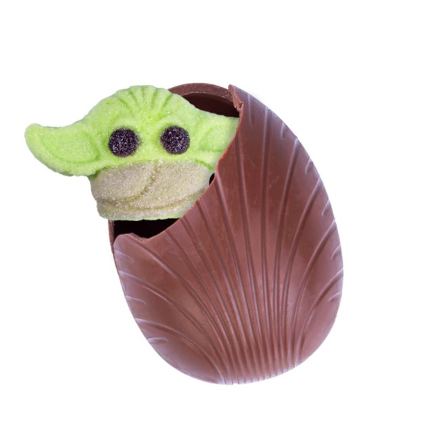 Star Wars Easter Egg hot cocoa bomb with baby yoda marshmallow surprise