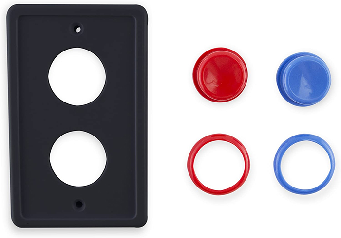 arcade-inspired faceplate push buttons