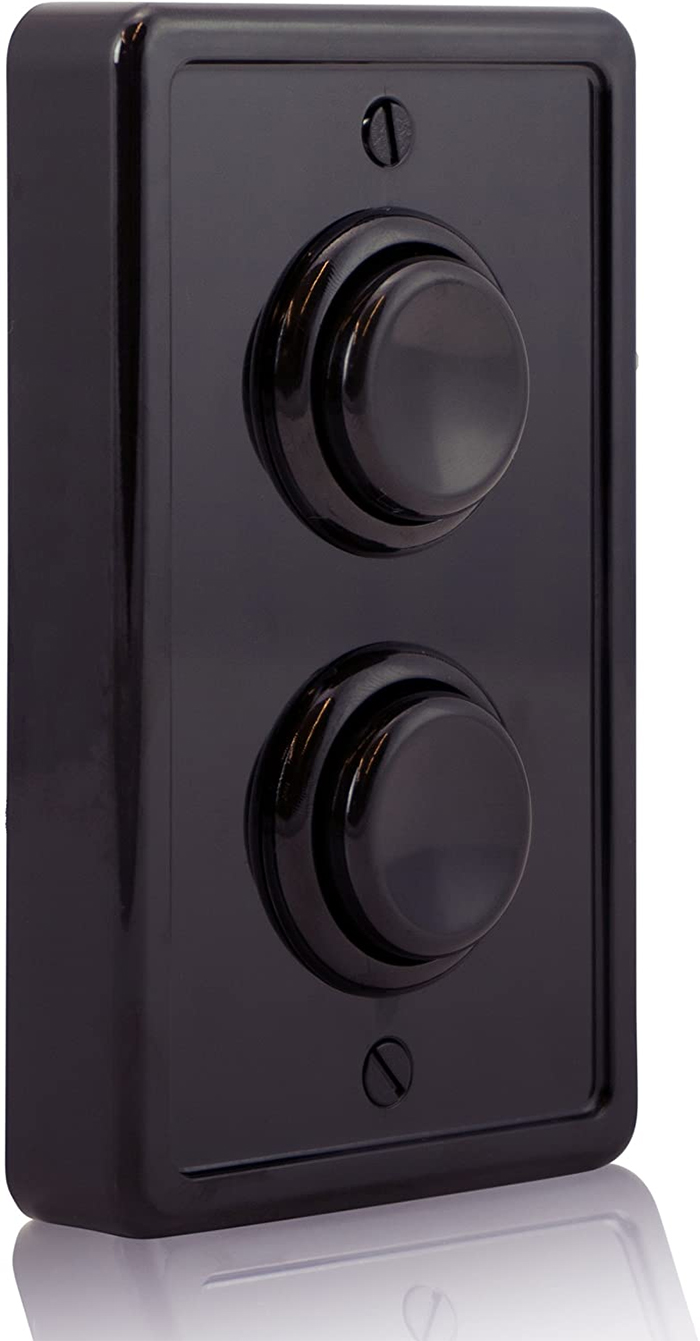 arcade-inspired wall plate all black