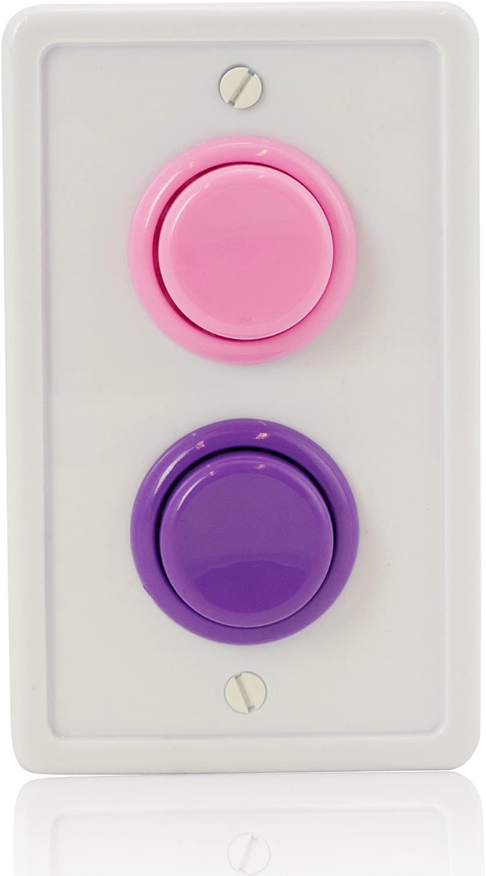 arcade-inspired wall plate color combinations