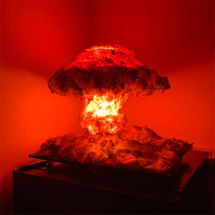 atomic blast diorama model