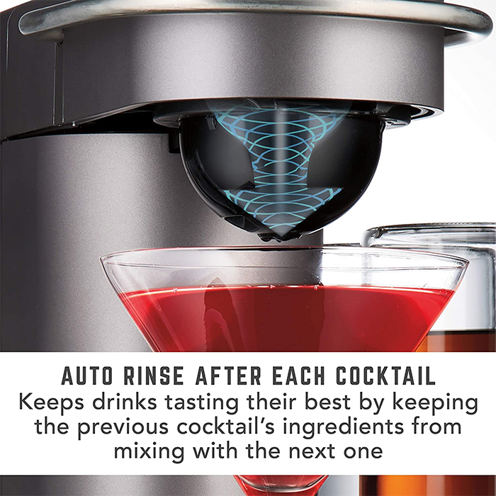 auto-rinse automatic cocktail mixer