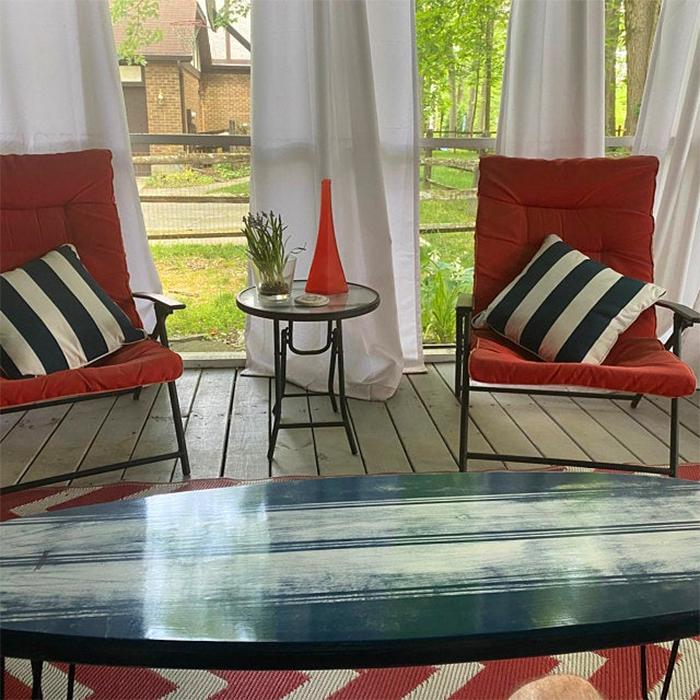 beach-inspired furniture star spangled blue