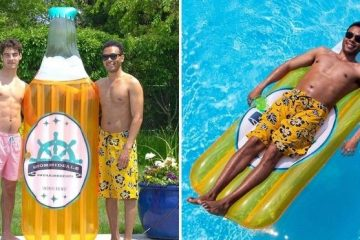 beer bottle pool float