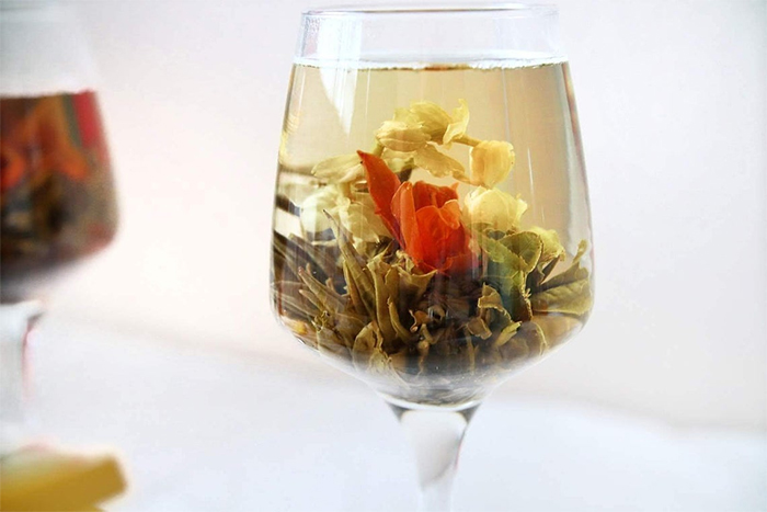 blooming tea balls flower