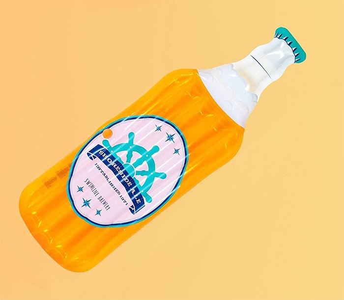 bottle-shaped lounger