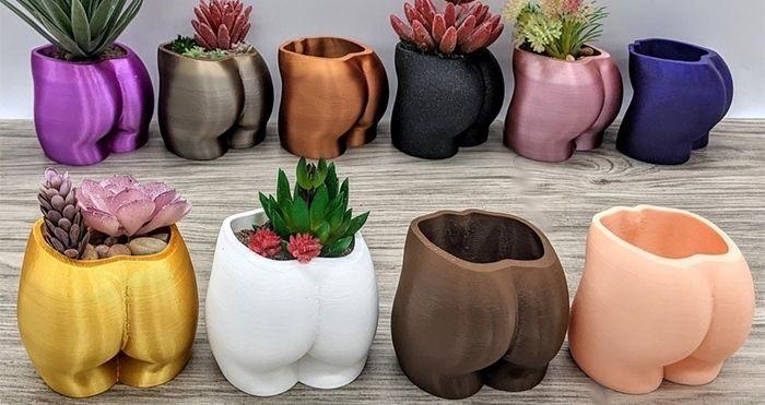 butt shaped planter