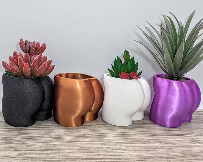 butt shaped planter booty pots
