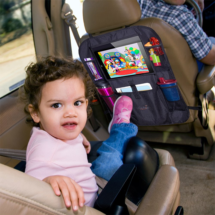 car seat organizer with tablet holder