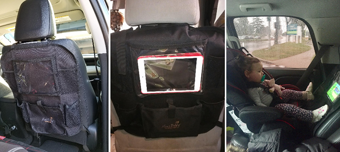 car seat organizer with tablet pocket front seat