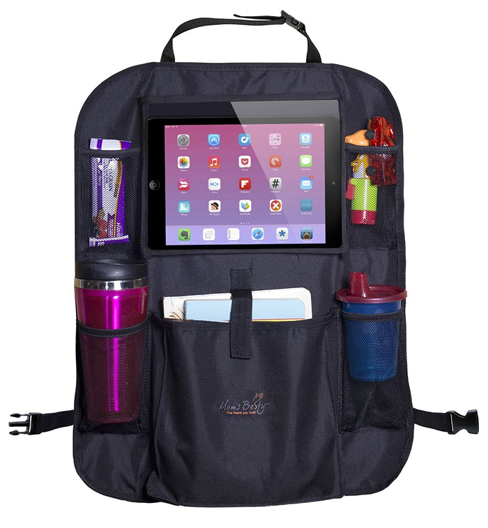 car seat organizer with tablet pocket