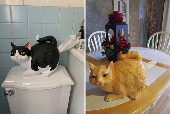 cat-shaped paper napkin dispenser