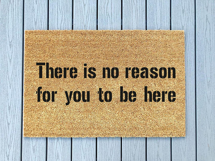 catchydoormats funny entrance floor mat for unwanted guests