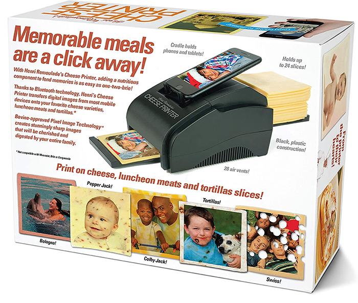 cheese printer gag gift box