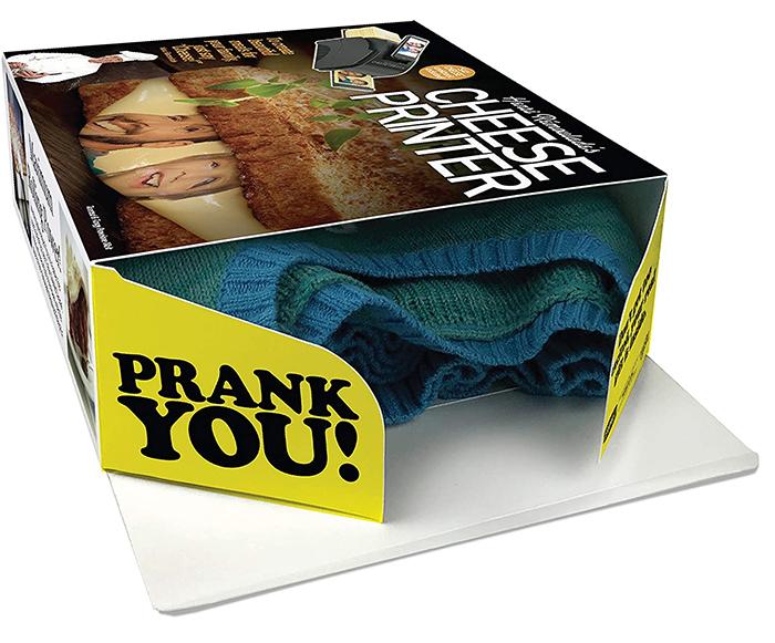 cheese printer prank gift box