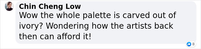 ching cheng low facebook comment on ancient egyptian paint-mixing board