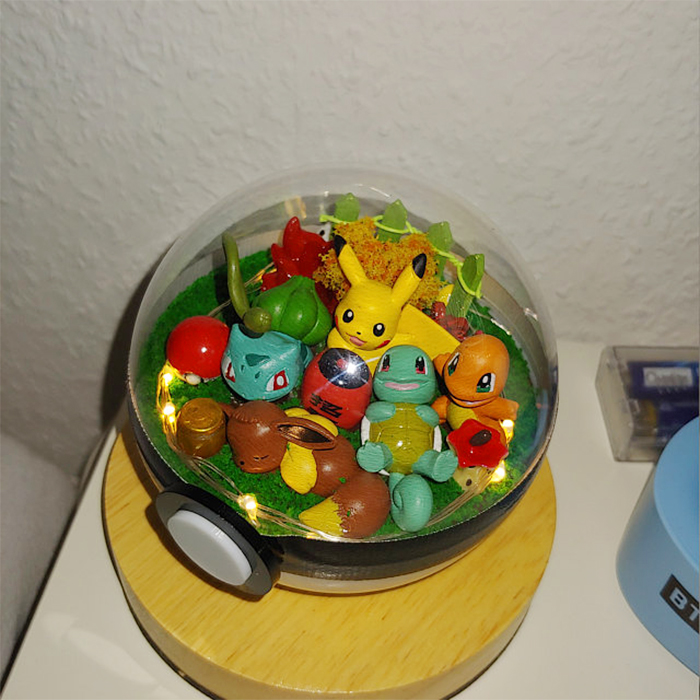 clear pokeball with toys lantern